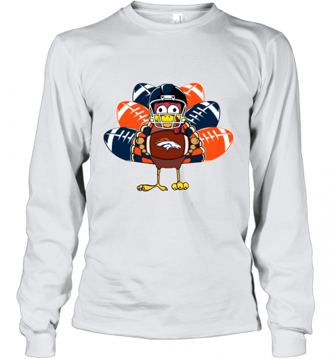 Denver Broncos  Thanksgiving Turkey Football NFL Youth Long Sleeve