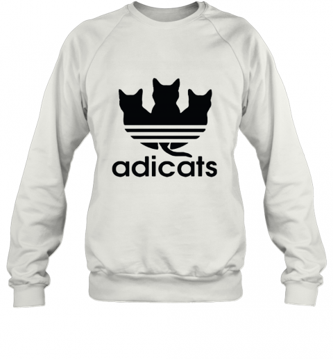 Adicats Three Black Cats Adidas Logo Mashup Sweatshirt