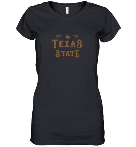 Texas State Bobcats Women_s College NCAA Women's V-Neck T-Shirt