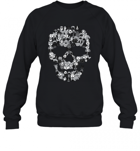 Dog Skull - Creepy Puppy Skeleton - Halloween Party Outfit Sweatshirt