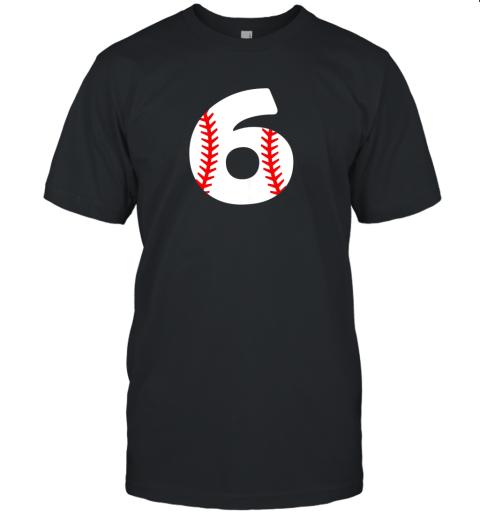 Sixth Birthday 6th BASEBALL Shirt  Number 6 Born in 2013 Unisex Jersey Tee