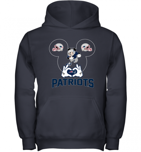 kane i love the patriots mickey mouse new england patriots youth hoodie 43 front navy