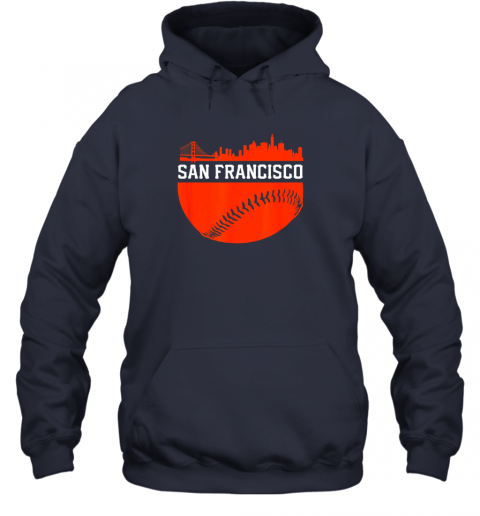 hpf3 san francisco baseball vintage sf the city skyline gift hoodie 23 front navy