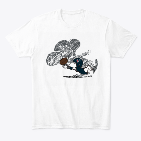 Houston Texans Snoopy Plays The Football Game T-Shirt