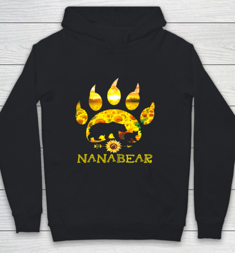 Nana Bear Sunflower T Shirt Funny Mother s Day Youth Hoodie