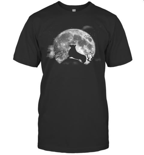 Corgi And Moon Halloween Funny Halloween Dog Tee T-Shirt