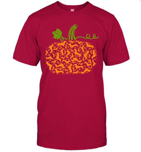 Vintage Pumpkin Fall Dachshund Dog Paw Halloween Costume T-Shirt