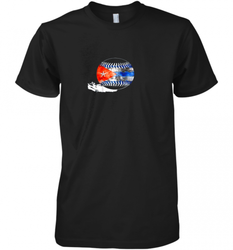 Vintage Baseball Cuba Flag Shirt Cuban Pride Premium Men's T-Shirt