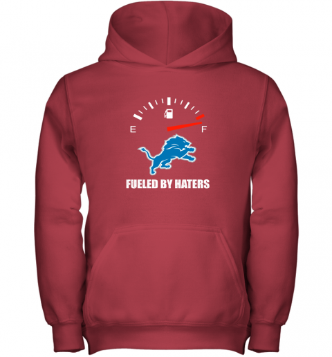 ssdm fueled by haters maximum fuel detroit lions youth hoodie 43 front red