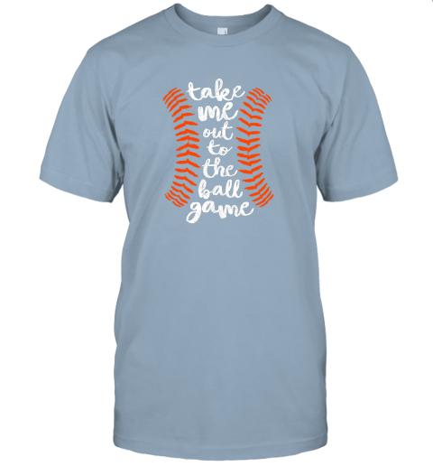 nqoq take me out ball game shirt baseball song orange black blue jersey t shirt 60 front light blue