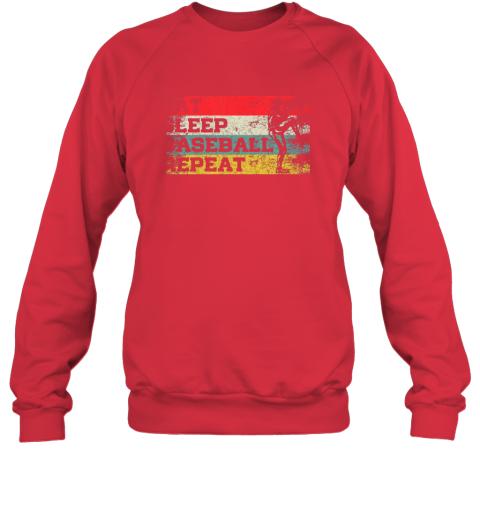 jp1l vintage retro eat sleep baseball repeat funny sport player sweatshirt 35 front red