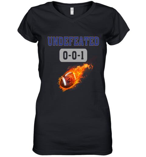 NFL BALTIMORE RAVENS Logo Undefeated Women's V-Neck T-Shirt