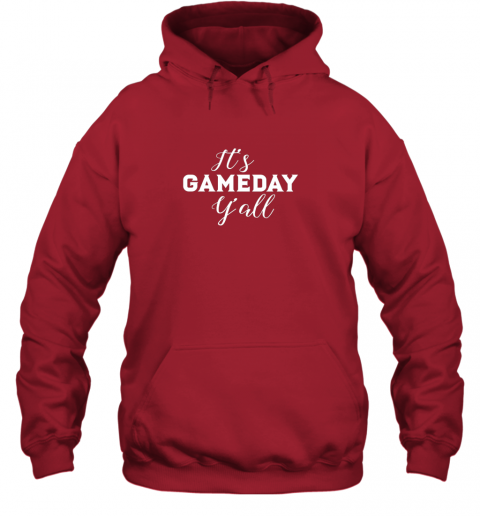 xra6 it39 s game day y39 all football baseball basketball hoodie 23 front red