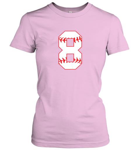 q05u cute eighth birthday party 8th baseball shirt born 2011 ladies t shirt 20 front light pink