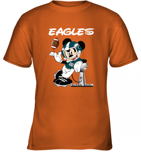 o8j8 mickey eagles taking the super bowl trophy football youth t shirt 26 front safety orange