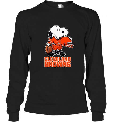 Snoopy A Strong And Proud Cleveland Browns NFL Long Sleeve T-Shirt