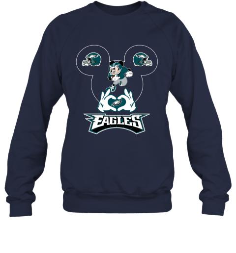 msjg i love the eagles mickey mouse philadelphia eagles sweatshirt 35 front navy