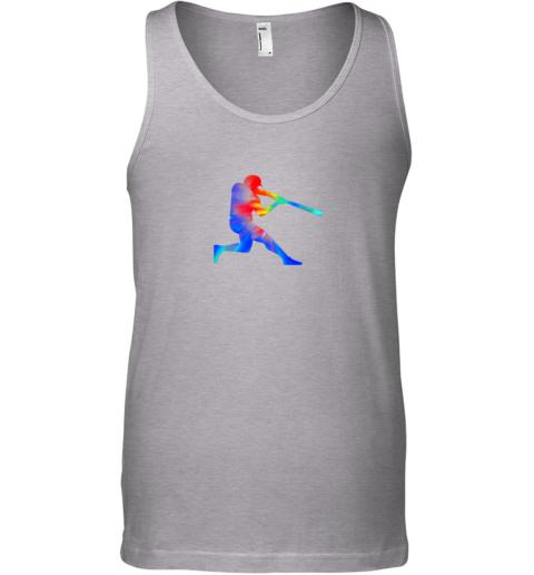 6c5k tie dye baseball batter shirt retro player coach boys gifts unisex tank 17 front sport grey