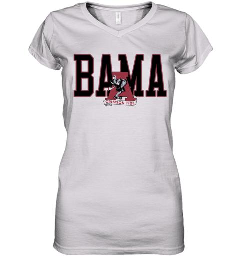Alabama Crimson Bama Women's V-Neck T-Shirt