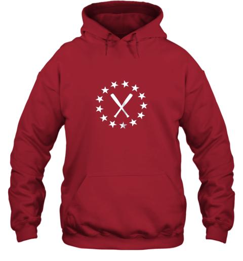 8uq1 baseball with bats shirt baseballin player gear gifts hoodie 23 front red