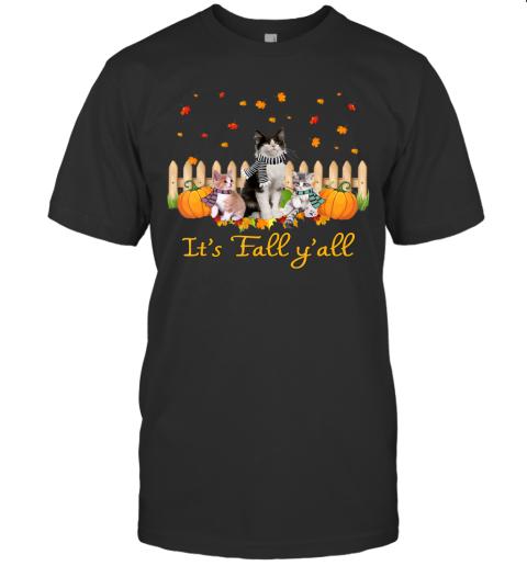It's Fall Y'all Pumpkins Cat Halloween Costume T-Shirt