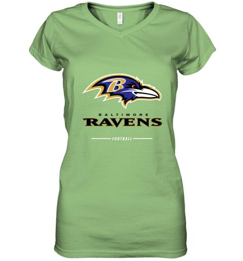 9pfj mens baltimore ravens nfl pro line black team lockup t shirt women v neck t shirt 39 front lime