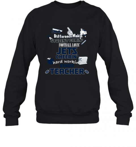 WINNIPEG JETS  I'm A Difference Making Student Caring Hockey Loving Kinda Teacher Sweatshirt