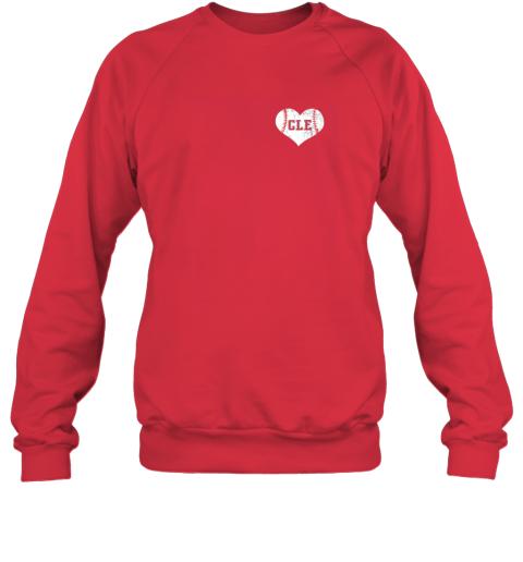 l9mw vintage cleveland baseball sweatshirt ohio cle sweatshirt 35 front red