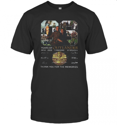 06 Years Of Outlander 2014 2020 Signatures T-Shirt