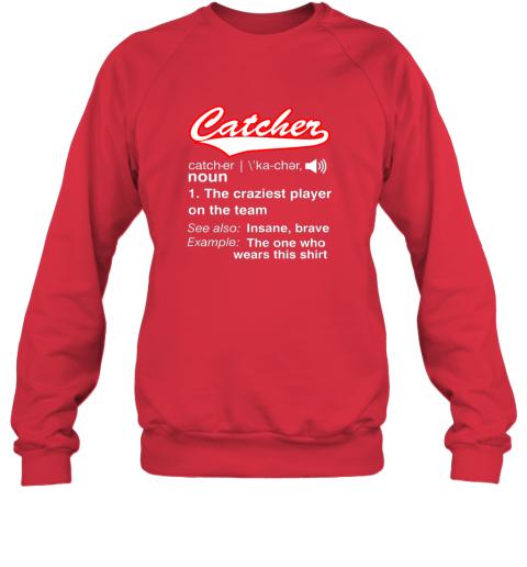 pels softball baseball catcher shirtvintage funny definition sweatshirt 35 front red