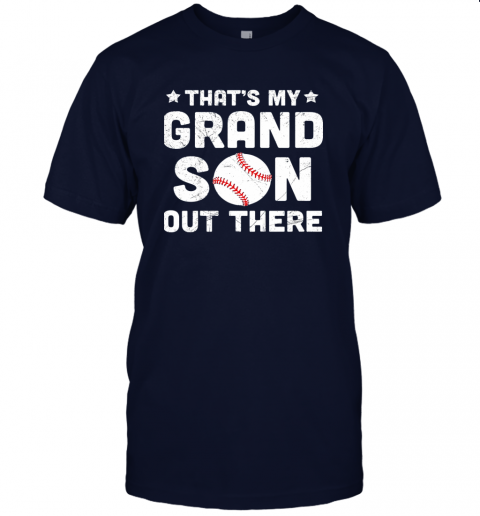wclz grandma that39 s my grandson out there baseball jersey t shirt 60 front navy