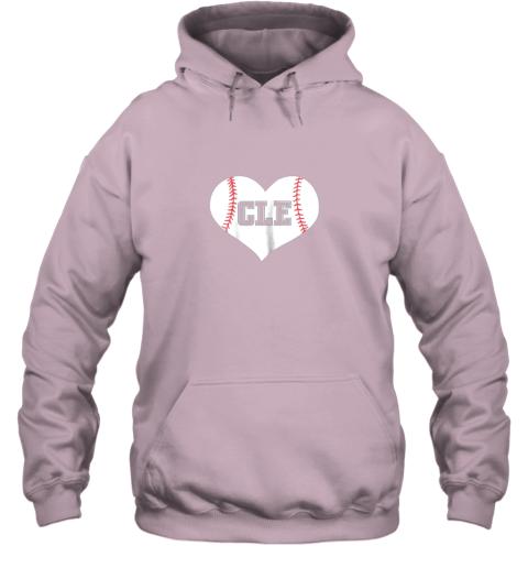 eta9 cleveland ohio baseball love heart cle gift jersey fan hoodie 23 front light pink