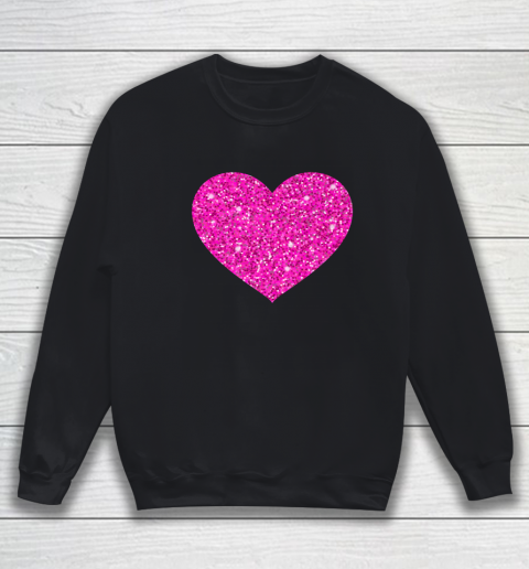 Pink Valentine Heart Love Fun Husband Wife Sweatshirt