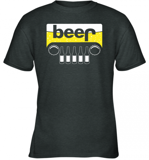 dry5 beer and jeep shirts youth t shirt 26 front dark heather