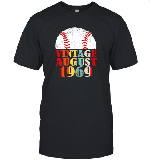 Born August 1969 Baseball Shirt 50th Birthday Gifts Unisex Jersey Tee