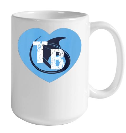 Stingray Love Tampa Bay Vintage TB Cool Tampa Bay Heart Color Changing Mug 15oz 2