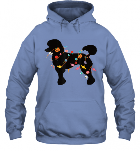 Poodle Halloween Shirt Cute Halloween Outfit for Dog Lovers Hoodie