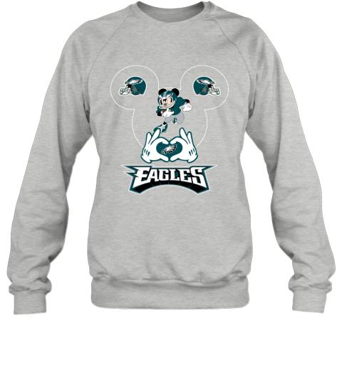 msjg i love the eagles mickey mouse philadelphia eagles sweatshirt 35 front sport grey
