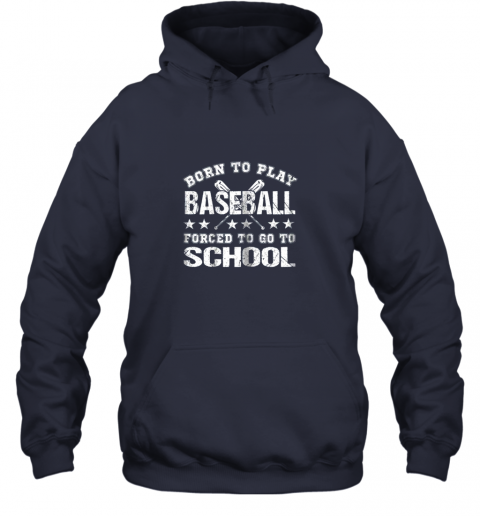 pmyy born to play baseball forced to go to school hoodie 23 front navy