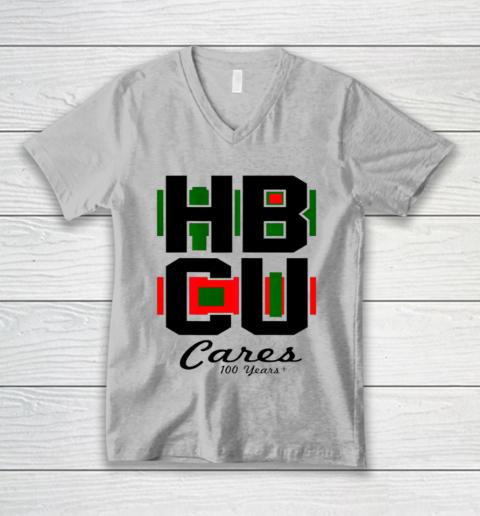 HBCU Cares College University Graduation Gift Black School V-Neck T-Shirt 2