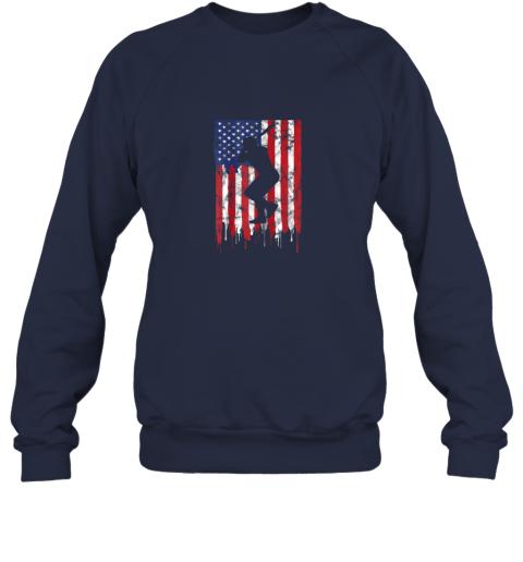 pjrv vintage patriotic american flag baseball shirt usa sweatshirt 35 front navy