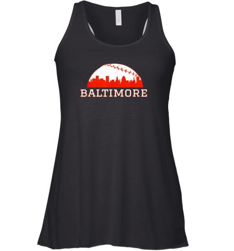 Vintage Downtown Baltimore MD Baseball Skyline Racerback Tank
