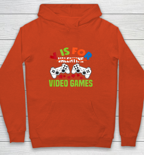 Funny Video Games Lover Valentine Day Youth Hoodie 3
