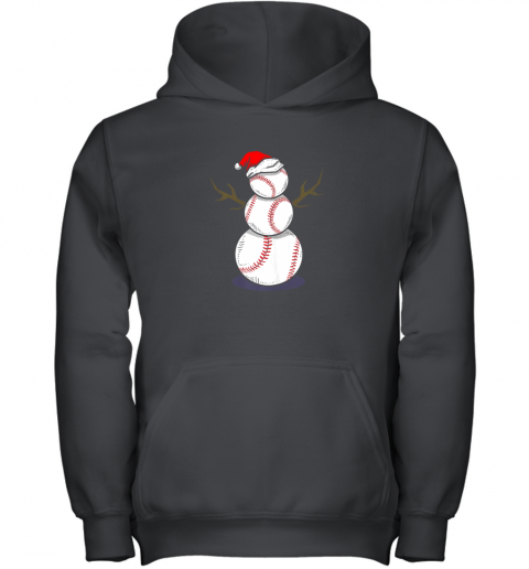 Christmas in July Summer Baseball Snowman Party Shirt Gift Youth Hoodie