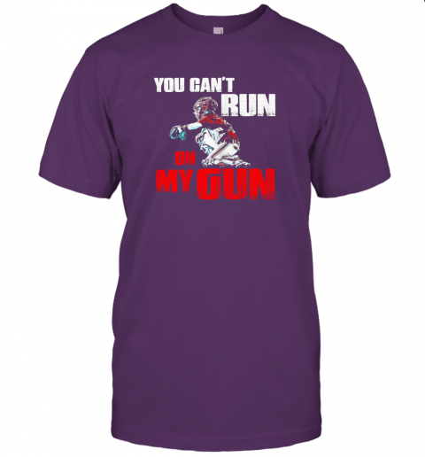 cwls you cant run on my gun shirt baseball jersey t shirt 60 front team purple