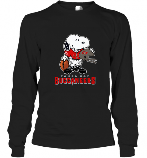 Snoopy A Strong And Proud Tampa Bay Buccaneers Player NFL Long Sleeve T-Shirt