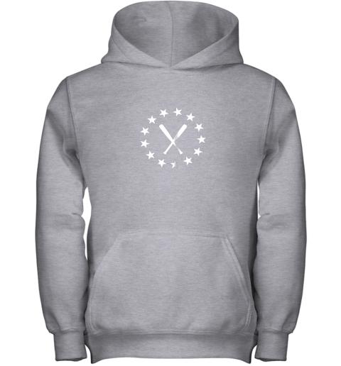 25vb baseball with bats shirt baseballin player gear gifts youth hoodie 43 front sport grey