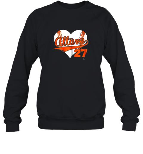Jose Altuve Baseball Heart Shirt  Apparel Sweatshirt