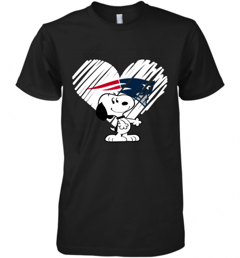 I Love New England Patriots Snoopy In My Heart NFL Premium Men's T-Shirt