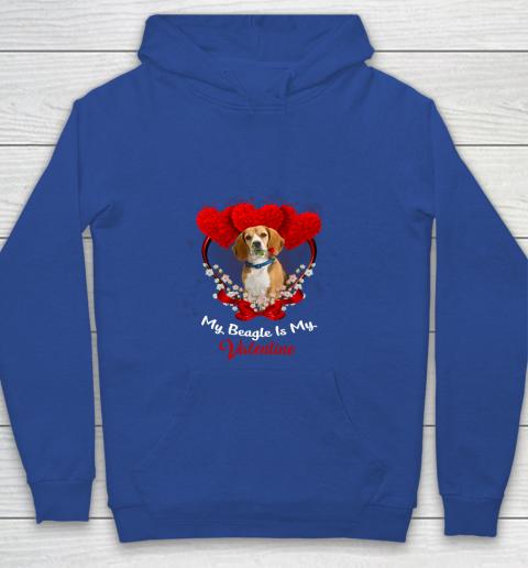 My Beagle is My Valentine Day 2019 Dog Youth Hoodie 6